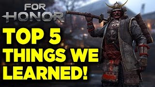Top 5 Things We Learned in the For Honor Alpha