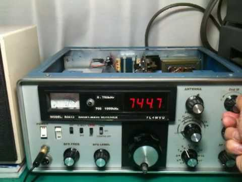 Homemade short wave receiver   7 tubes    YouTube