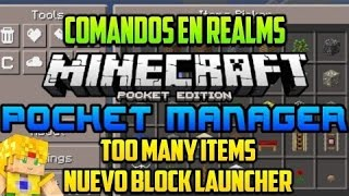 Minecraft PE 0.16.0 Mods - Pocket Manager - Too Many Items - Realms y  Block Launcher Compatible