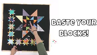 Basting a Quilt Block for Quilt-As-You-Go Quilting