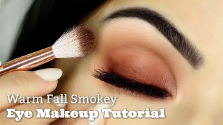 Beginners Warm Smokey Eye Makeup Tutorial | Parts of the Eye | How To Apply Eyeshadow