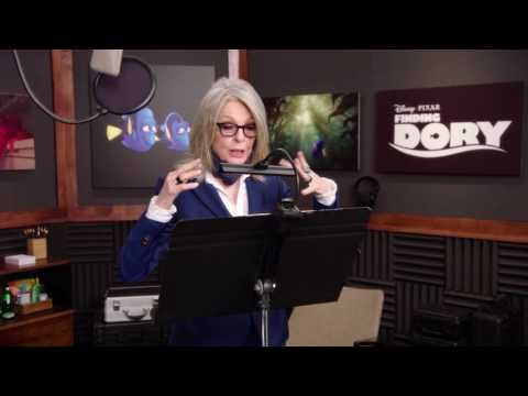 """Finding Dory: Diane Keaton """"Jenny"""" Behind the Scenes Voice Acting"""