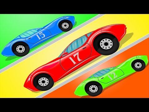 Sports Car | Car Race Game | Video for Children & Babies | Cartoon Cars