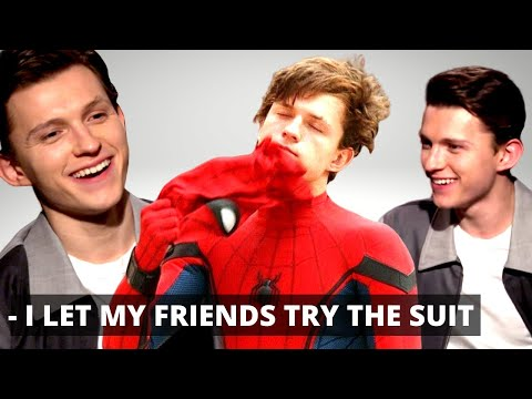 'AVENGERS' Tom Holland Letting His Friends Try On His Spider-Man suit (+ Cumberbatch Infinity War) thumbnail