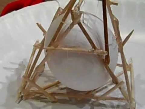 Egg Drop Project With Toothpicks And Glue Youtube