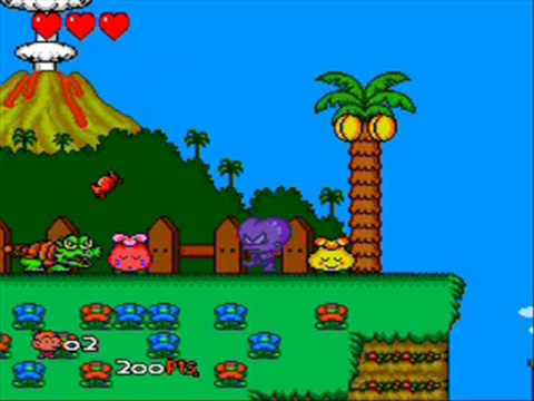 Bonk III: Bonk's Big Adventure (TurboGrafx-CD) Round 1