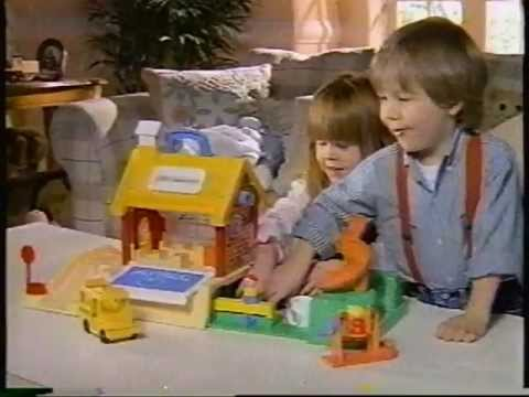 1986 Fisher-Price Little People School playset commercial.