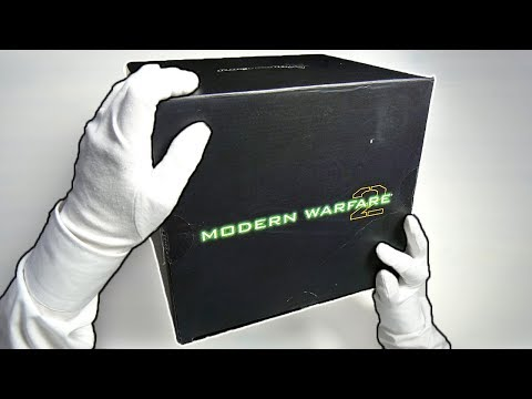 Modern Warfare 2 LIMITED BOX Unboxing! Call of Duty MW2 Collector's Statue Gameplay