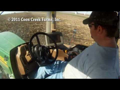 Fall tillage with a 512 disk ripper (chisel plow)