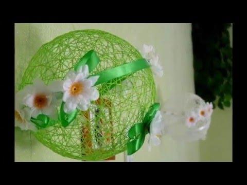 Поделки из ниток и шарика своими руками