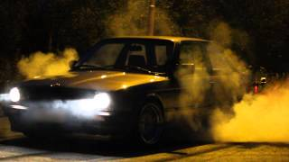 Late night burnouts with e30 316 (328i m52b28 turbo)