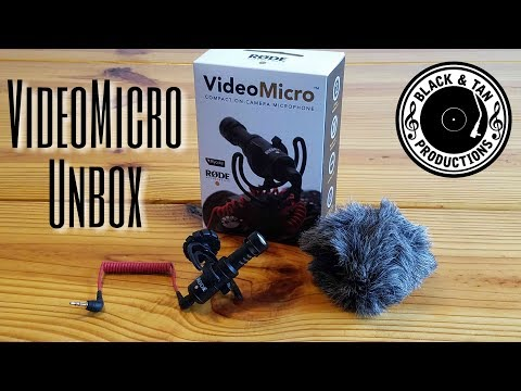 Rode VideoMicro Unbox - Memphis J Reviews - DSLR Microphone