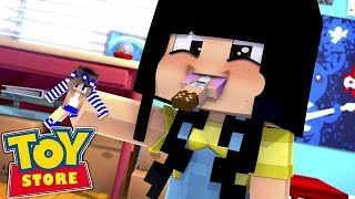 THE LITTLE CARLY DOLL IS EATEN BY A BABY!!! w/Little Kelly (Minecraft).