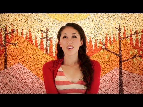 Thumb In Your Arms by Kina Grannis, the video clip with 288,000 jellybeans