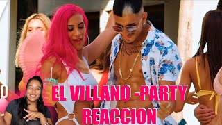 El Villano - Party (Video Oficial) reacción