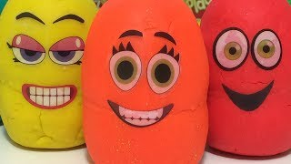 Learn Colors With Play Doh Surprise Eggs Toys For Kids