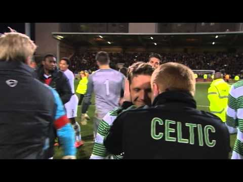 Full time celebrations as Celtic win the Premiership title!