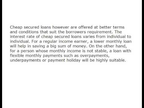 The Best Comes With The Lowest with cheap secured loans 712525