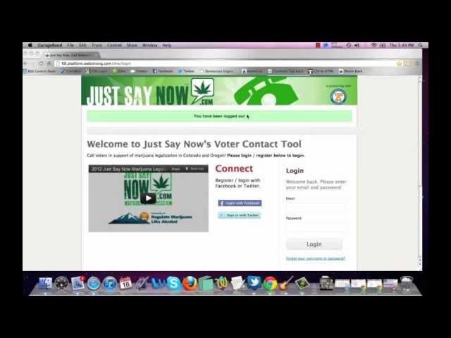 2012 Just Say Now Marijuana Legalization Phone Bank