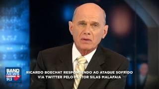 Boechat responde a Silas Malafaia ao vivo na BandNewsFM