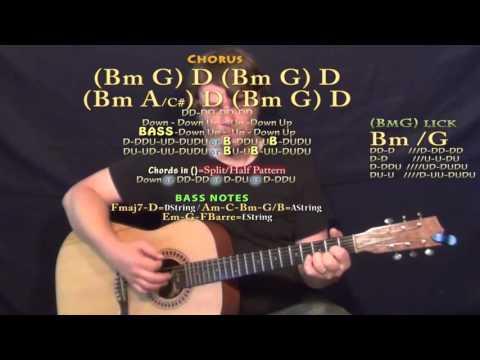 Hide Away (Daya) Guitar Lesson Chord Chart - D G Bm A