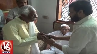 Chiranjeevi And Jaipal Reddy Visits Dattatreya, Consoles Over His Son's Death