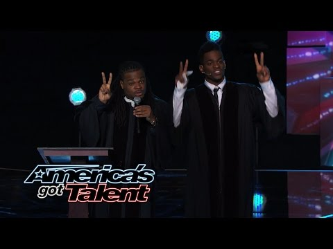 Emmanuel & Phillip Hudson: Comedic Team Takes On Religion - America's Got Talent 2014 video