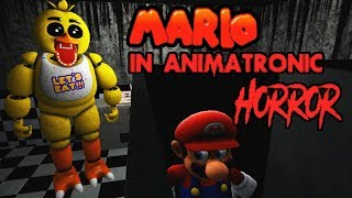 KEEP QUIET OR CHICA WILL FIND US | MARIO IN ANIMATRONIC HORROR NIGHT 3 | A KILLER