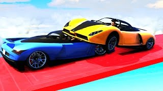 EXTREME SKY SUMO DERBY! (GTA 5 Funny Moments)