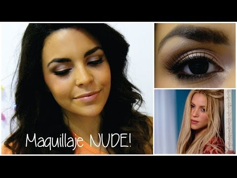 Makeup Nude De Shakira ♥ Maquillaje Natural ♥ video