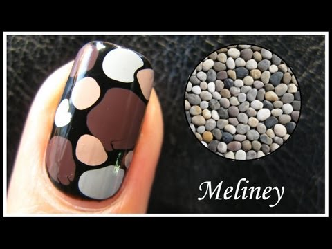 EASY PEBBLE NAIL ART TUTORIAL   NO TOOLS REQUIRED HOW TO BASICS STONE DESIGN TECHNIQUE BEGINNERS