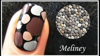 EASY PEBBLE NAIL ART TUTORIAL | NO TOOLS REQUIRED HOW TO BASICS STONE DESIGN TECHNIQUE BEGINNERS