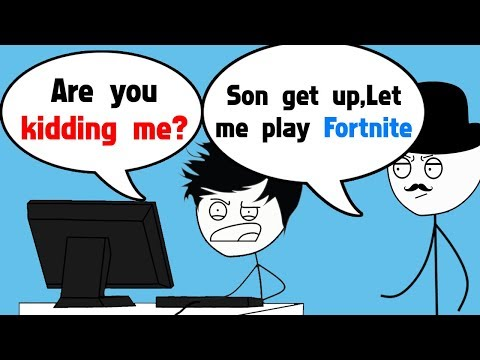 When a Gamer's Dad plays Fortnite Battle Royale
