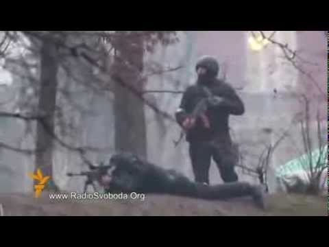 Video of Ukraine Soldiers Shooting AK 47 - Sniper Rifle at People as Truce Fails, 25 More Die