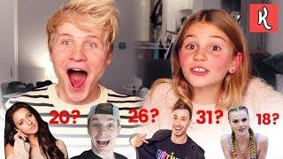 HOE OUD ZIJN DEZE YOUTUBERS?! met ZUSSIE - Kalcember #10   Kalvijn