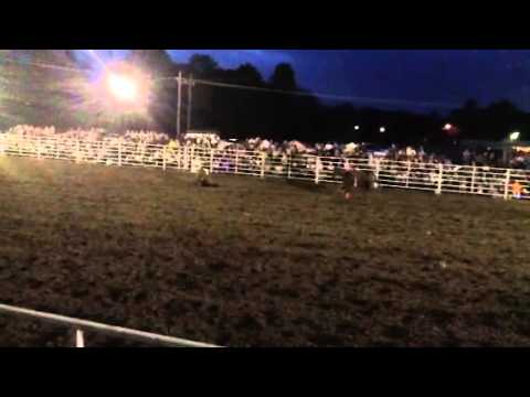 Garrett calf roping at Marietta high school rodeo 2013