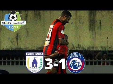 Persipura Jayapura vs Arema FC 3-1 - All Goals & Highlights - Liga 1 - 29/10/2017