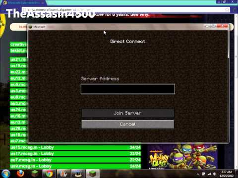 How to Join a Minecraft Survival/Hunger Games Server