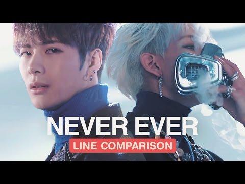 GOT7 - Never Ever (Line Comparison) 「without Jackson」