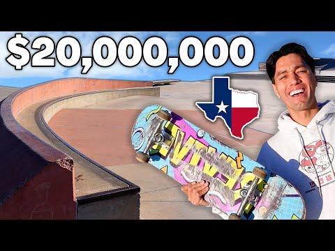 What a $20 MILLION DOLLAR Skatepark In Texas Looks Like
