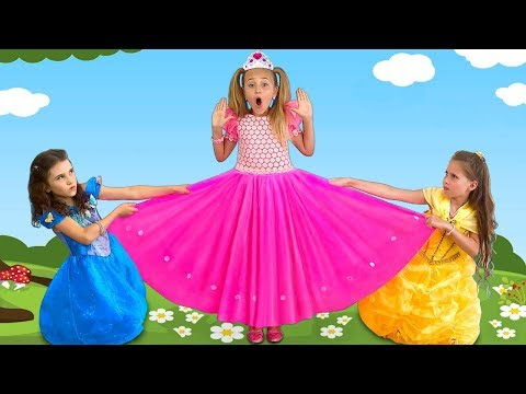 Sasha and Girls share a new dress and play in a beauty contest