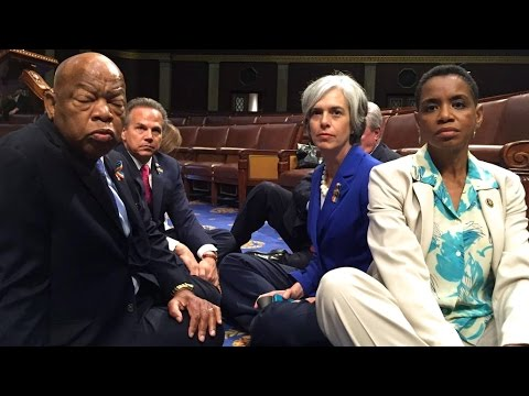 Dems Occupy Congress with Sit-In for Gun Control