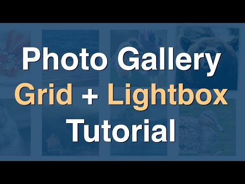 How to Create Photo Gallery Grid with Modal Window Lightbox
