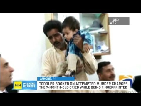 Baby booked and fingerprinted inPakistan
