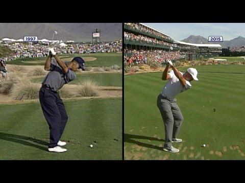 Tiger Woods swing comparison 1997 vs. 2015