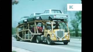1960s Highway, Car Hauler, Trucks, United States