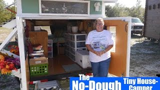 "Woman builds a ""Toothpicks and Tape"" DIY Tiny House/Camper"