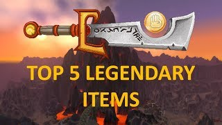 TOP 5 (RANKED) Legendary Items in Classic WoW