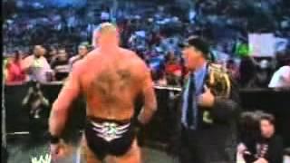 Smack Down: Brock Lesnar & Tajiri vs Rey Mysterio & Edge
