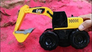Fine Toys Construction Vehicles Under Magic Sand | Car Toys, Truck,Wheel Loader,Police car